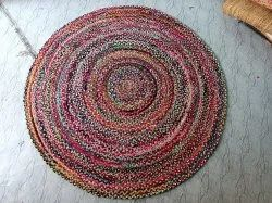 Mamvi Rugs Cotton Multicolour Round 5x5 Feet, For Decoration