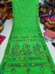 Kantha Stitch Saree, .0.80 Cm, 5.5 m (separate blouse piece)