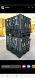 Foldable pallet box