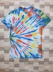 95% cotton 5% lycra Tie Dye Print T Shirt