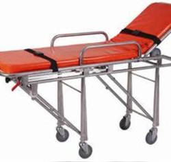 Folding Ambulance Stretcher, With Castor, Size: 190 * 60 * 90 Cm