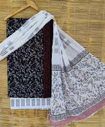 Printed Bagru Print Cotton Dress Material With Cotton Dupatta
