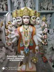 3 Feet Marble Panchmukhi Hanuman Moorti