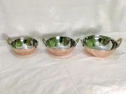 Round KADAYI SET COPPWR & STEEL, For Coking And Serving, Size: 1 To 4