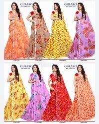 Flower Printed Saree