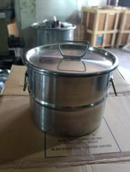 Silver Open Top And Close Head SS Powder Storage Drum, Capacity: 5 Ltr To 210 Ltr, Packaging Type: Boxes