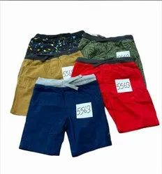 Cotton 5 colors Boys Shorts, Size: 2yrs to 14yrs