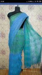 Jute Organza Silk Dual Shaded Sarees
