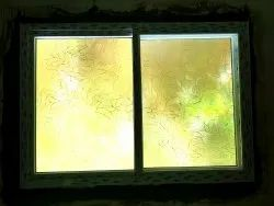 Printed Sliding Window Flower Design On Glass, Size: 6x4, Thickness: 5mm