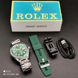 Round Metal Rolex Smart Watch, For Personal Use