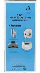 White And Grey Electricity Akari Rechargeable Fan 12