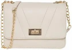RR Brand white Women's sling styles Hand bags, 6.7, Size: 6-12