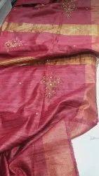 Ghicha Tussar Silk Weaving Sarees