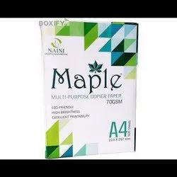 Natural White Maple 70 GSM A4 Copier Paper, Packaging Size: 500 Sheets per pack