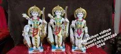 40 Inch Marble Ram Darbar Statue