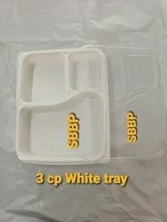 Plastic Food Tray 3 Compartment Meal Tray Xl Size
