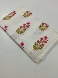 Cotton Mugal Buta Print Fabric, Multicolour
