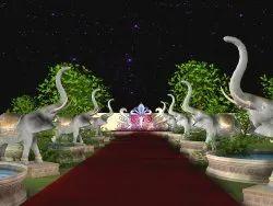 Wedding gate stage