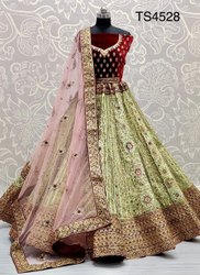 Amazing Craftsmanship On Silk With Full Flair Dreamy Unusual Bridal Lehenga Choli