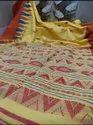 Khadi Cotton Temple Weaving Work Sarees