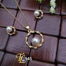 Golden Brass Daily Wear Jewellery, Wedding