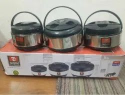 Stainless Steel Insulated Casserole Set of 3 (1500ml,2500ml,4500ml)