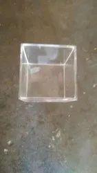 Transperent Acrylic Agralic Box, 5mm, Square