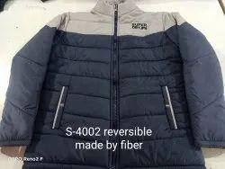 Casual Wear Men Full Sleeves Reversible Jacket, Size: M to XXL