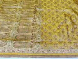 6.5 m Wedding Hand Woven Tanchoi Banarasi Silk Saree