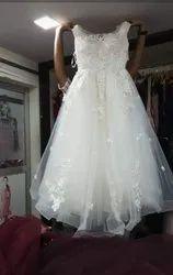 White Ball Pre Wedding Gown, Size: 2xl To 4xl
