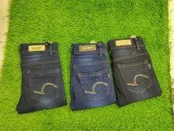 Casual Wear Embroidery Kids Denim Jeans