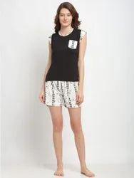 Lycra Cotton Casual Wear T Shirt Set, Size: Adult size