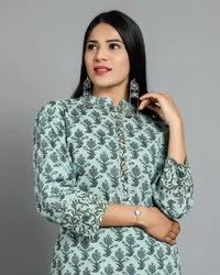 Casual Wear Straight Pure Cotton Elgant Kurti With Comfortable Skirt, Wash Care: Handwash