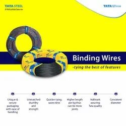 Mild Steel Tata Wiron Binding Wire, For Tying Tmt Bars, Quantity Per Pack: 20-30 kg