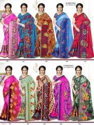 Printed Full Lace Border Saree