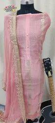 Pink Chanderi Gota Patti Suit
