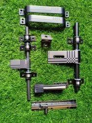 Welded Stainless Steel Black Matt S.S Door Kit, Size: 10