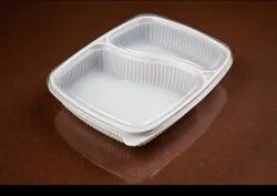2 Compartment Meal Tray With Lid