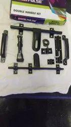 Black Powder Coated Door Kit, Thickness: 14mm Rod 10