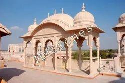 Carved Stone Entrance Palki, Chhatri Works