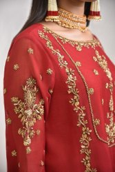 Crape Or Silk Designer Suits