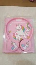Wired Pink Unicorn Headphones