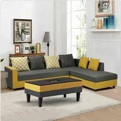 CSFI Modern L Shape Sofa Set, Living Room, Size: 7 X 5