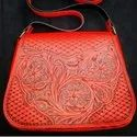 Tool Carving Ladies Leather Hand Bags