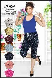 Regular posters colour hoseiry cotton sinker print Heram Capri, Size: S.m.l.xl.xxl.xxxl