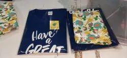 Full Length Cotton Ladies Nj Nightwear Set, Free Size