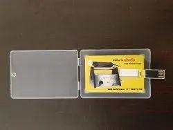 Card Pen Drives with Plastic Transparent Box