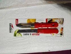 Multy color Stainless Steel Knife. Peelar set