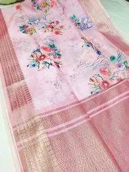 Kora Floral Digital Printed Sarees