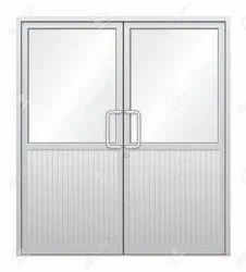 Silver Aluminium Door, For Office